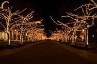 Подключение освещения зданий в Омске
